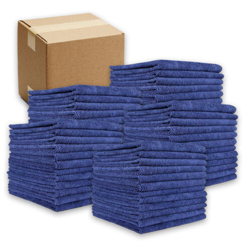 Microfiber Cleaning Cloths - Packs of 12 - 16 x 16 Rags - Color Options - 320GSM