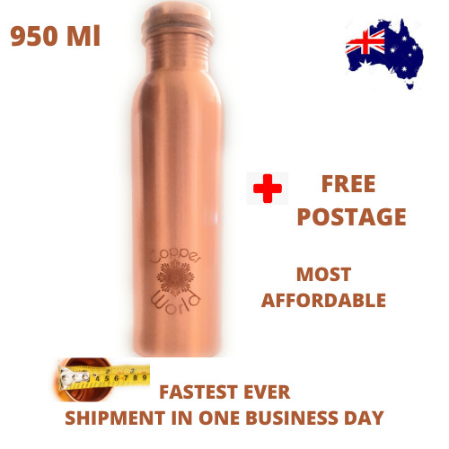 950 ml pure Copper Water  bottle best quality on Ebay 3 gauge thickness for YOGA