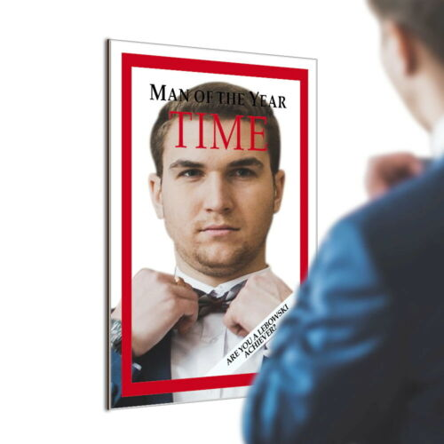Time Man Of The Year Lebowski Achiever Mirror Big Movie Magazine Cover Bar Gift