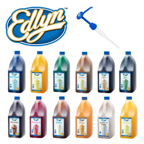 Edlyn Flavoured Syrup Topping 3L   Various Flavours, Pumps, Milkshake