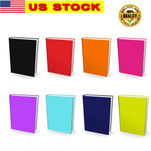 1-8 Stretchable Bookcover Jumbo Solid Colors Fabric Sox Fit Textbooks up to 9x12
