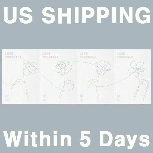 US SHIPPING BTS-[Love Yourself ?? 'HER'] 5th Mini Album SELECT CD+Book+Card+etc