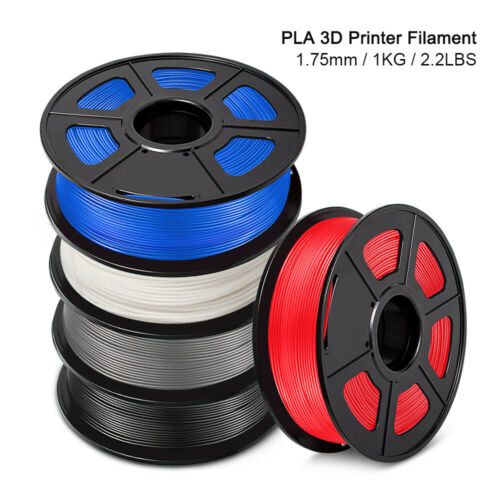 Beliveer PLA 3D Printer Filament 1.75mm 1000G 2.2LBS/Roll with Various Colors