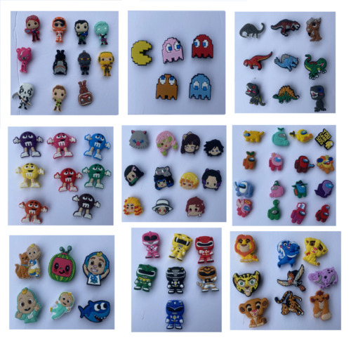 Cartoon PVC Shoe charms Compatible W/ Crocs Gifts for Kids Adults Friends
