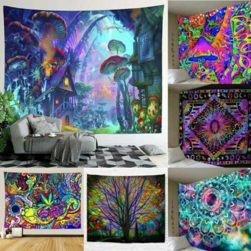 1X Tapestry Printed Wall Hanging Bedspread Cover Hippie Mandala Blanket Decor