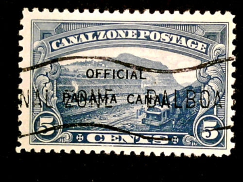 U S stamps canal zone us possessions Scott O3 official used cv 25.00