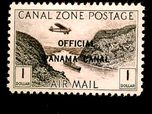 U S stamps canal zone us possessions Scott CO7 airmail official mint