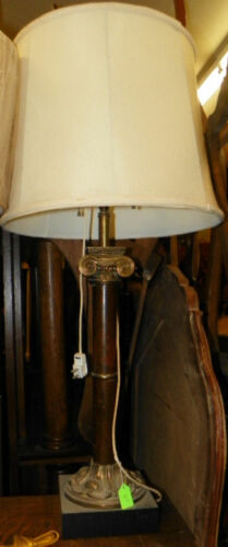 Vintage Marble Pillar Table Lamp  (HD83)