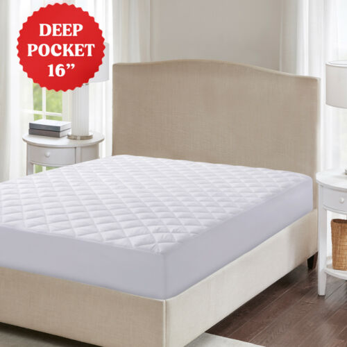 Mattress Pad Deep Pocket Ultra Soft Cooling Fitted Mattress Topper Pad Cover