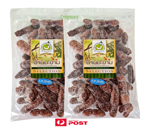 2 x Thai Tamarind 4 tastes seedless snack  200g (sweet, salty, sour and spicy)