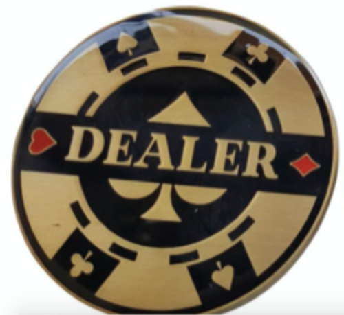 Double Sided Heavy Elegant Poker Dealer Button NEW Exclusive to The Poker Store
