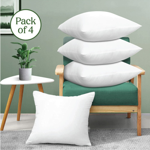 Pack of 4 Throw Pillows Insert Ultra Soft Bed & Couch Sofa Decorative Pillows