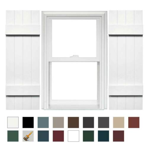 Mid America 4 Board and Batten Joined Vinyl Shutters (1 Pair)