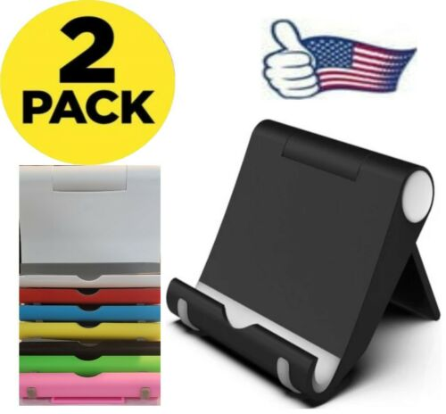 2 PACK Cell Phone Stand Phone Holder Foldable Desk Mount for Samsung MOTO iPhone