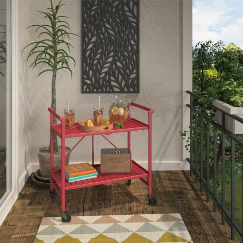 COSCO Outdoor Living™ INTELLIFIT Outdoor Or Indoor Folding Serving Cart with 2