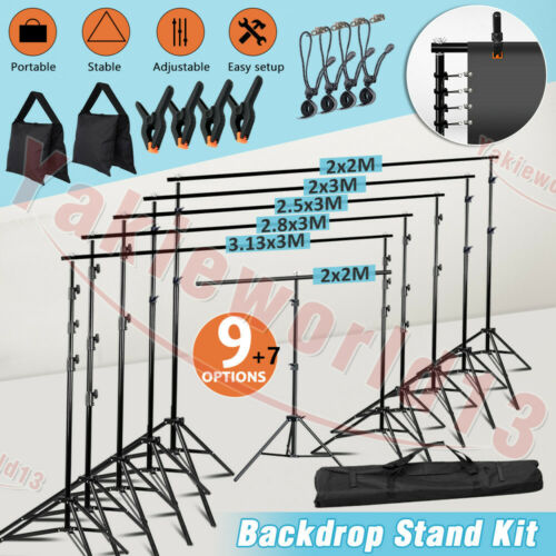 Stability Studio Heavy Duty Backdrop Stand Screen Photo Background Support KIT