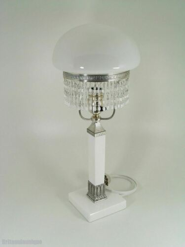 BEAUTIFUL WMF GLASS & METAL TABLE LAMP