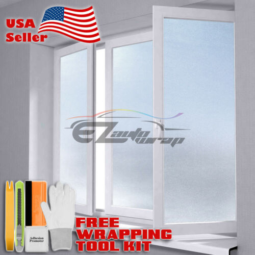 【Frosted Film】 Glass Home Bathroom Window Security Privacy Sticker #01