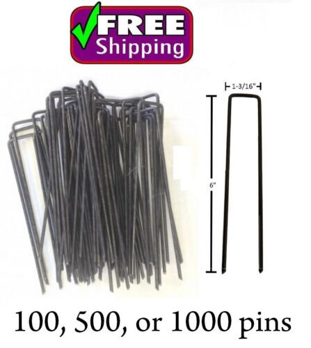 """6"""" Landscape Staples, SOD Staples, Weed mat pins, turf pins, anchor pins FW6/"""