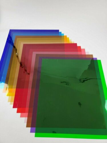 """*NEW*Color Gel Filter Sheets appx 21x24"""" Photo, Video, Theater, Stage SEE DESCRPTN"""