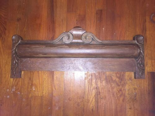 Vtg Architectural Ornate Wood Carved PEDIMENT HEADER Salvage 29""