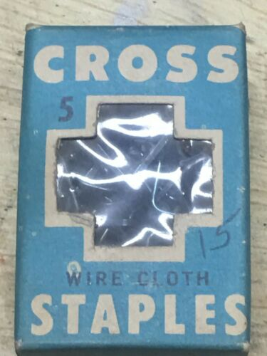 Vintage unopened box of Cross cloth Staples