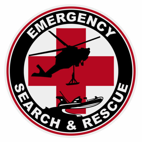 Emergency Search and Rescue Sticker Decal (Select your Size)