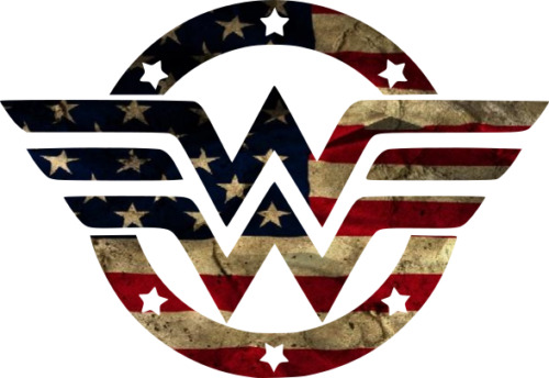 Wonder Woman American Flag Sticker Decal (Select your Size)