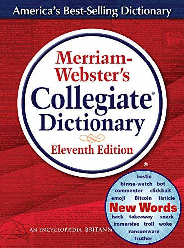 Merriam-Webster's Collegiate Dictionary, 11th Edition, Jacketed Hardcover, 2020