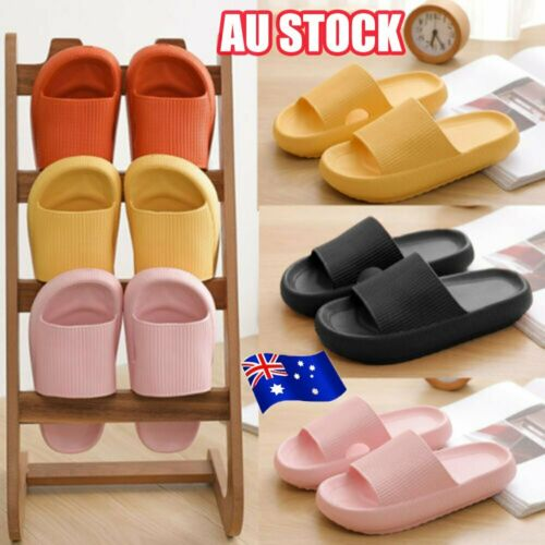 PILLOW SLIDES Sandals Ultra-Soft Slippers Extra Soft Cloud Shoes Anti-Slip #T