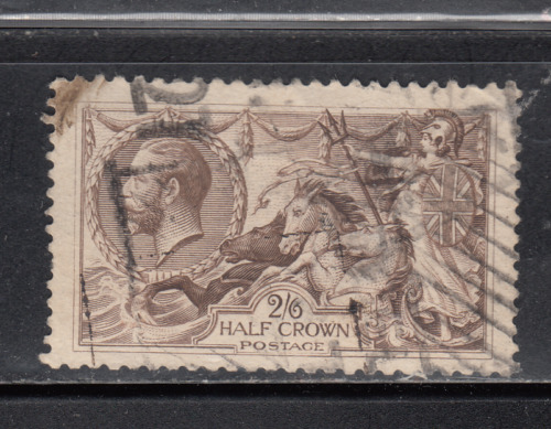 Great Britain Sc #179 2sh 6p olive brown Britannia rules the Waves issued 1919