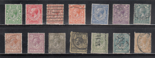 Great Britain George V stamps issued 1912-1924