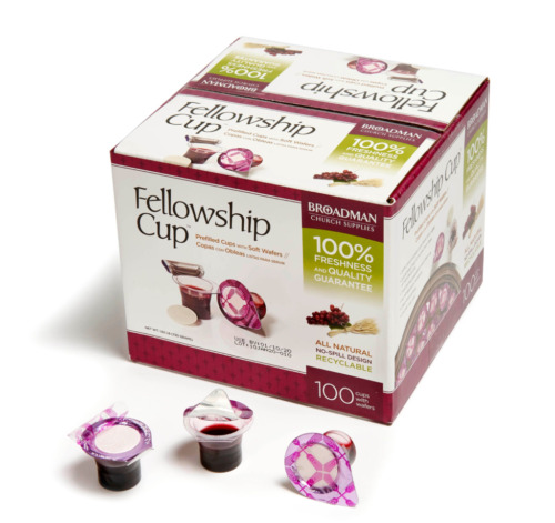 Fellowship Prefilled Communion Cups & Soft Wafers, Box of 100 FedEx 2nd day ship