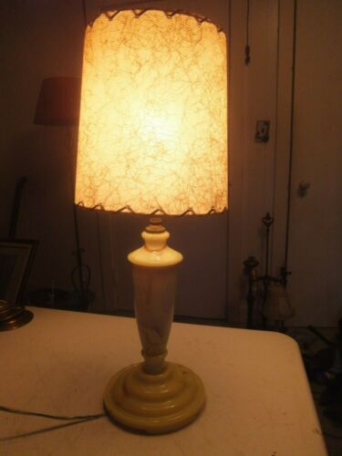 Georgeous Vintage Agate Glass Lamp 18