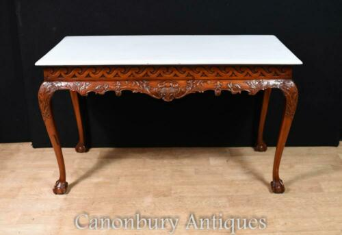 Mahogany Chippendale Console Table Ball and Claw Feet