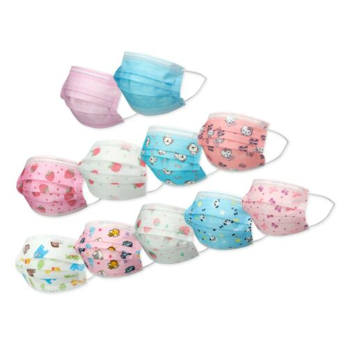 10/20/30/50 KIDS TODDLERS Face Mask Mouth Nose Protector Respirator Filter (LOT)