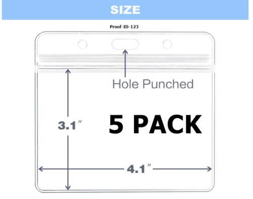 5 Pack  Zip Lock Vaccination Vaccine Record ID Card Holder Free Ship