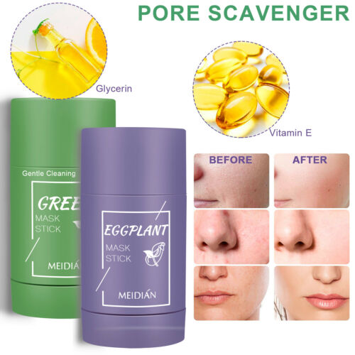 Green Tea Purifying Clay Stick Mask Anti-Acne Deep Cleansing Pore Oil Control