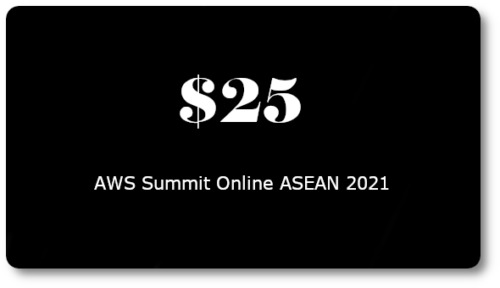 $25 AWS Promo Credit Code (Only 1 Code per AWS Account). Event: May 2021