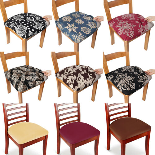 2/4/6/8pcs Chair Seat Covers Removable Elastic Stretch Slipcover Dining Spandex