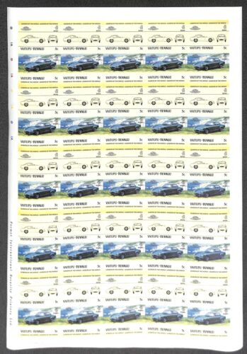 [OPG1114] Tuvalu 1984 Old Cars lot of 25x complete imperf set in sheets VF MNH