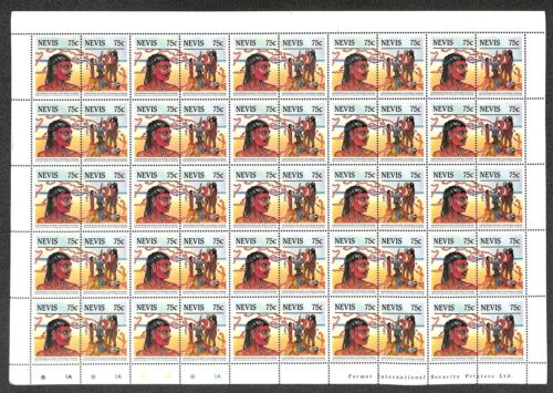 [OPG1147] Nevis Discovery Colomb lot of 4x 3 very fine MNH set in sheets