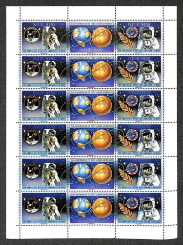 [OPG927] Niue 1989 Space lot of 6x very fine MNH sheet