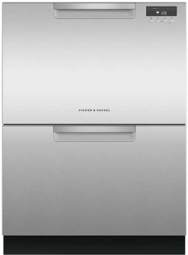 Fisher & Paykel DD24DAX9N 24 Inch Full Console Double DishDrawer in Stainless