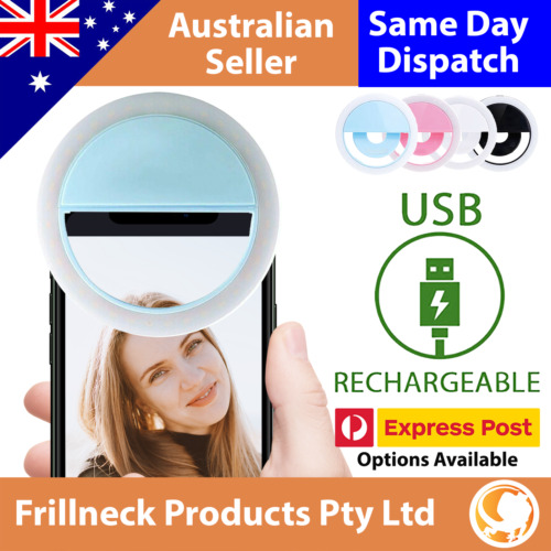 3 Modes Selfie LED Ring Fill Light Camera Rechargeable for iPhone Android Phone