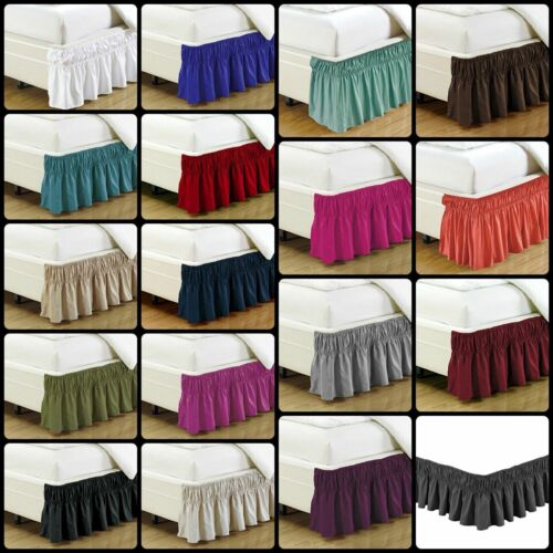 """Bed Skirt Dust Ruffle 14"""" Wrap Around Box Spring Bedding  KING QUEEN FULL TWIN"""
