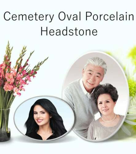 Cemetery Oval Headstone Photo for Picture Memorial Grave Marker Plaque Tombstone