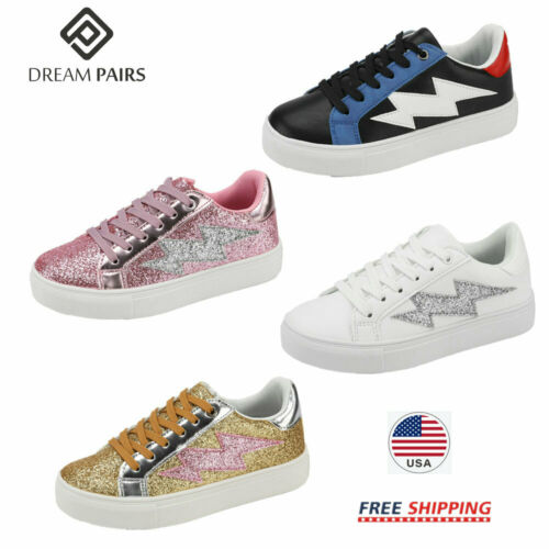 DREAM PAIRS Kids Boys Girls Casual Shoes Outdoor Sneakers Athletic Walking Shoes