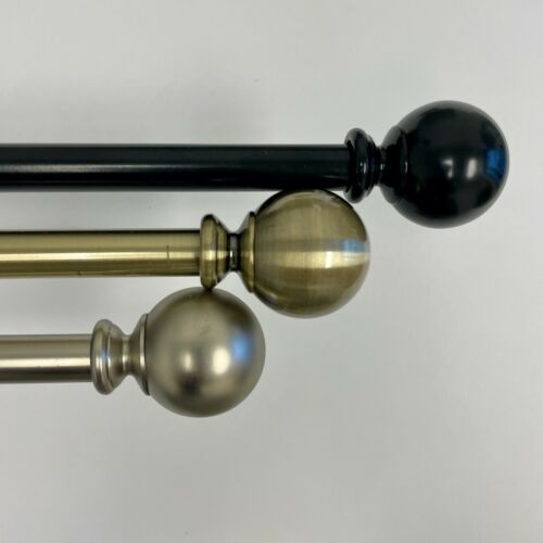 Adjustable Black/Nickel/Gold Single Curtain Rods In Three sizes and 3 Colors