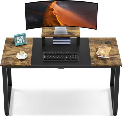 """55"""" Computer Desk with Monitor Stand & Splice Board, Home Office Gaming Desk"""